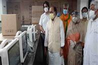 एसआरएन अस्पताल को मिले 150 आइसीयू मॉनीटर