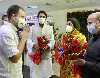 जम्मू में राहुल गांधी का हुआ भव्य स्वागत, आज करेंगे माता वैष्णो देवी के दर्शन