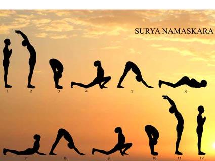 surya namaskar yoga steps inext live