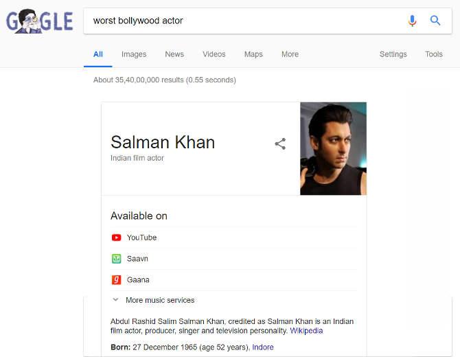 बॉलीवुड का सबसे खराब एक्टर कौन? इस सवाल का गूगल ने दिया ऐसा जवाब,न रोते बन रहा है,न हंसते!
